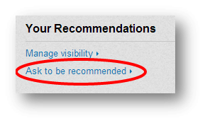 Ask to be recommends