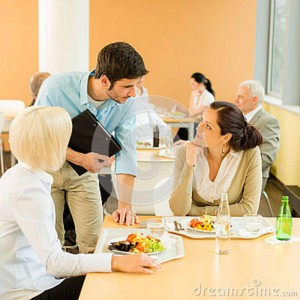 lunch-break-office-colleagues-eat-salad-cafeteria-24708807